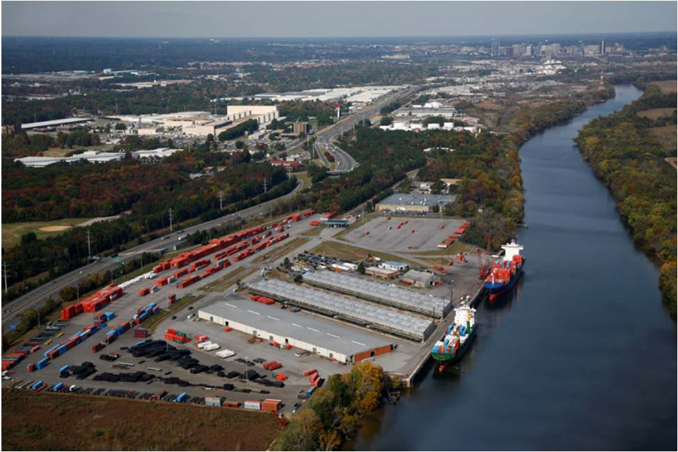Portsmouth Marine Terminal Total acreage: 287 Rail service with