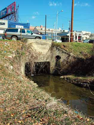 Has the stream been channelized? Decades ago, many urban streams were channelized.