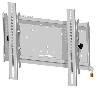 Flat screen Wall mounts Universal 23 Tiltable universal wall mounts 052.1050 Tiltable universal wall mount: For 26 37 (depending on model) Dimensions: 525 x 430 x 75 mm (W x H x D) Max.