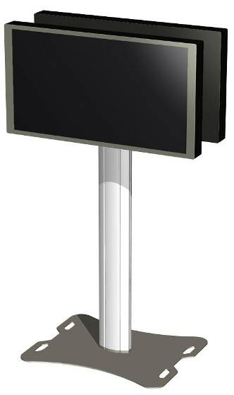 Flat screen Stand configurations 26 062.1000B Fully divisible stand Single construction: for one screen up to 50. Comprises base plate, column, and single head. 062.1100B Semi-divisible stand Single construction: for one screen up to 50.