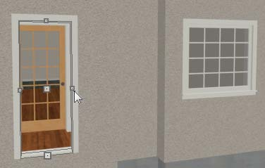 Doors and windows can be placed, selected, deleted, copied, pasted, and edited in either 2D or 3D views.