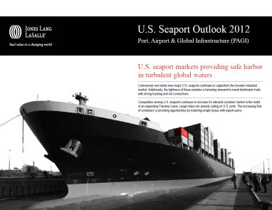 United States. Fall 2012 Port, Airport & Global Infrastructure presents highlights from the new U.S. Seaport Outlook 2012 Deeper local port analysis Jones Lang LaSalle s port coverage features an in-depth examination of the United States most active commercial ports.