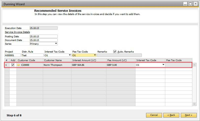 How to use the dunning wizard pdf step 6 recommended and service invoices use this window to view the details of the spiritdancerdesigns Image collections