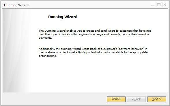 How to use the dunning wizard pdf example of a dunning wizard now the user is ready to start using the dunning wizard spiritdancerdesigns Image collections