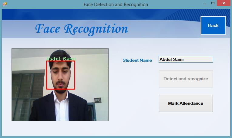 Tables of contents  Face Recognition Based Attendance System - PDF