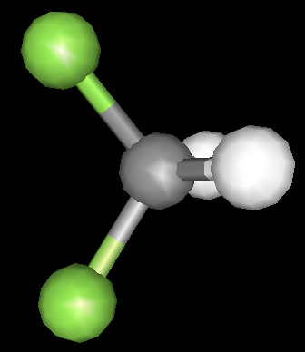 "17 ""fluoromethane"" Fluorine is able to pull electron density through the molecule, as it is being opposed by much less electronegative"