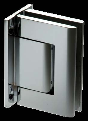 Biloba Hydraulic Hinges 52 14 7.5 Wall to Glass Offset Back Plate 90 All hinges are manufactured in Aluminium & PVD Coated, other finishes are available on request. Patented worldwide.
