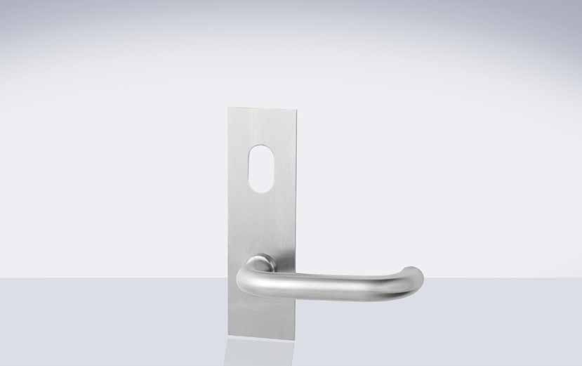 224 Series Artefact Rectangular Plate Furniture The 224 Series Door Furniture is 162mm long x 50mm wide with square ends.