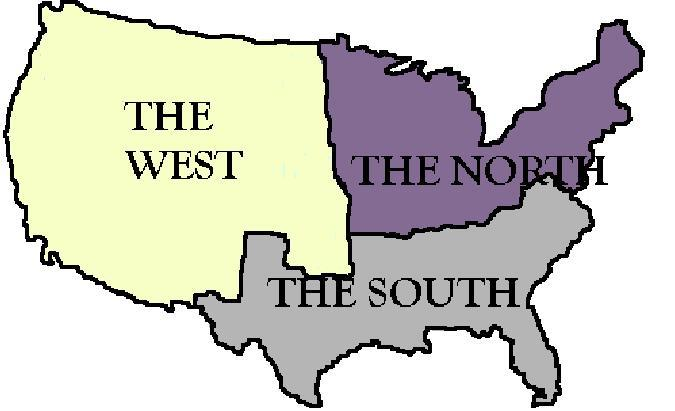 North and South The North and South had different economies and were competing for new land in the West At the same time, many Northerners wanted to restrict or ban slavery Southerners