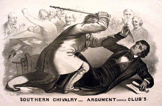 Sumner lashed out against pro-slavery forces in Kansas, such as Andrew P.