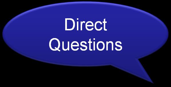 Asking Effective Questions Require a one- or twoword response Often begin with can, how