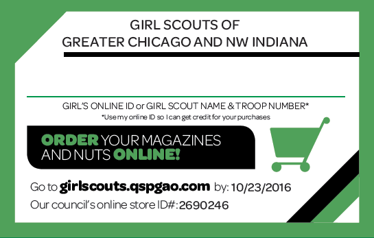 Girl scouts of greater chicago and northwest indiana troop fall in girl packet with nut order card can print colourmoves