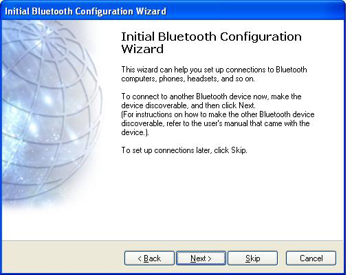 5. Select the services that you would like your computer to offer to the Bluetooth devices. Click Next to proceed. 6. The Bluetooth software will install the selected services.