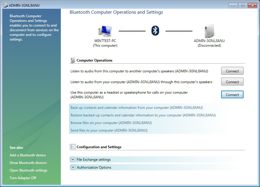 4. Once the pairing process is completed, you can interact with your Bluetooth enabled