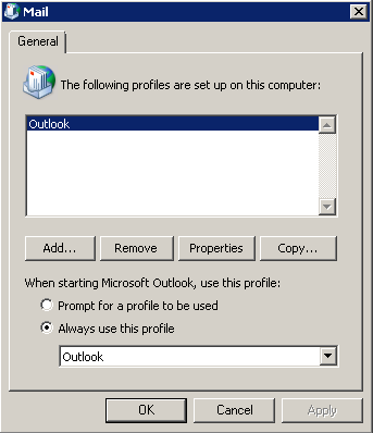 Setting up Outlook 2010 **This Section for IT only ** Note. This step assumes that you have uninstalled Groupwise email client. This document assumes you have Outlook Installed.