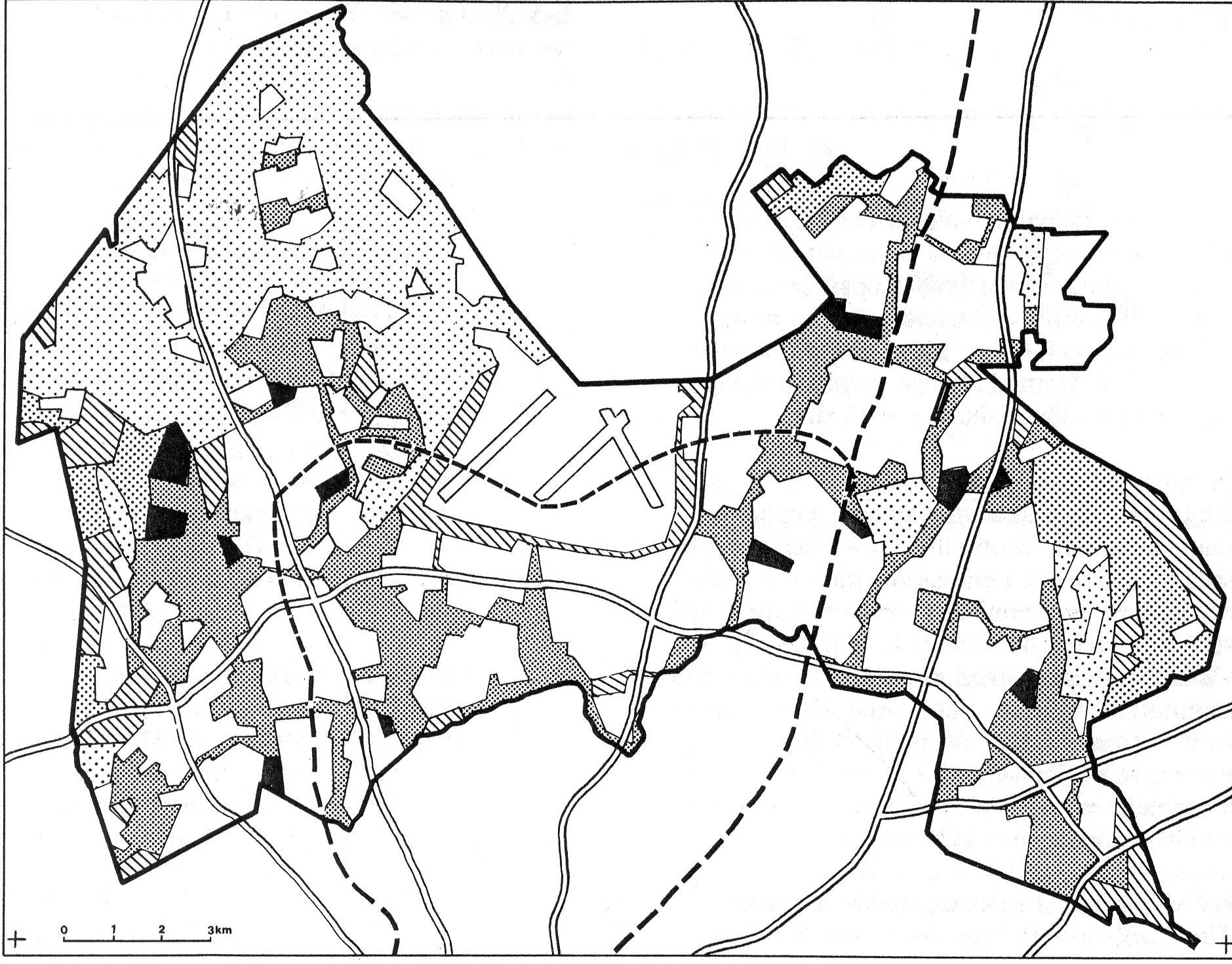 Figure. 1992 Master Plan of Vantaa showing variety of its green spaces.41 Re-Defining Green Spaces in the 2000s After the recession of the 1990s, both cities experienced a population growth.