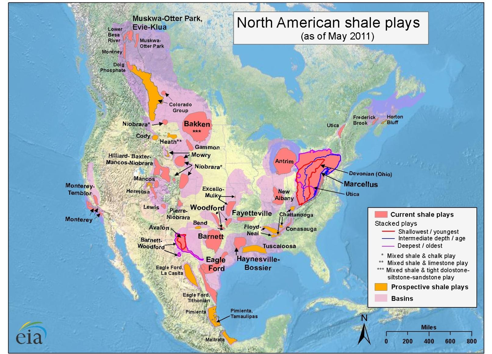 Shale gas production is still a North American story Source: U.S. Energy Information Administration based on data from various published studies.