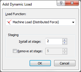 Dynamic Analysis of Machine Foundation 35-10 The value of the force at each time step may now be inputted in the table provided on the left side of the dialog and the resulting force history is