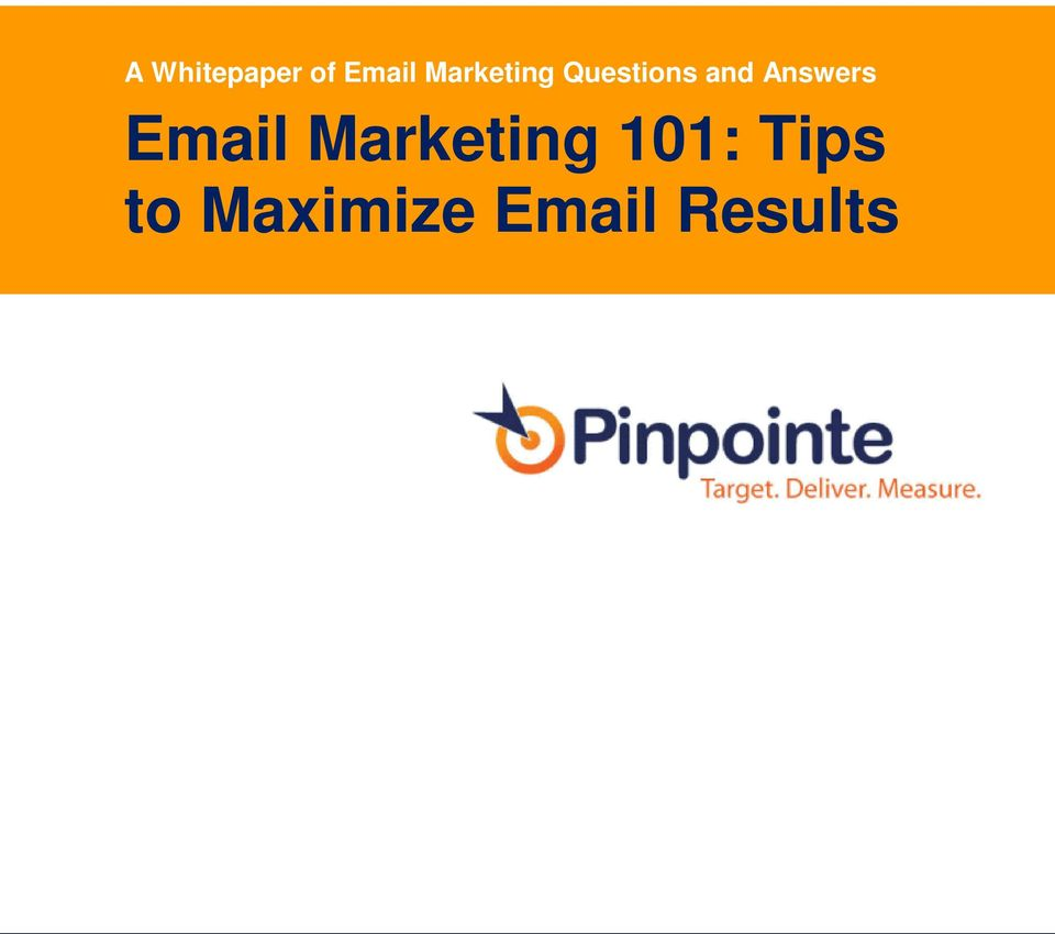Answers Email Marketing 101: