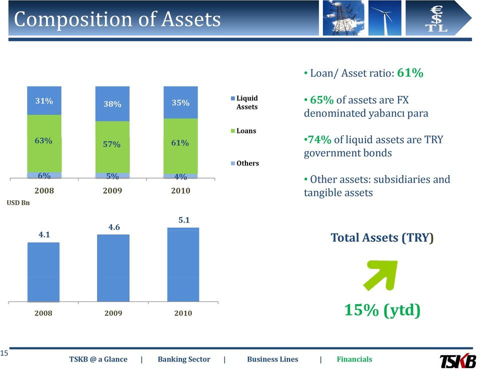 idassets are TRY government bonds USD Bn 6% 5% 4% 2008 2009 2010 Other assets: