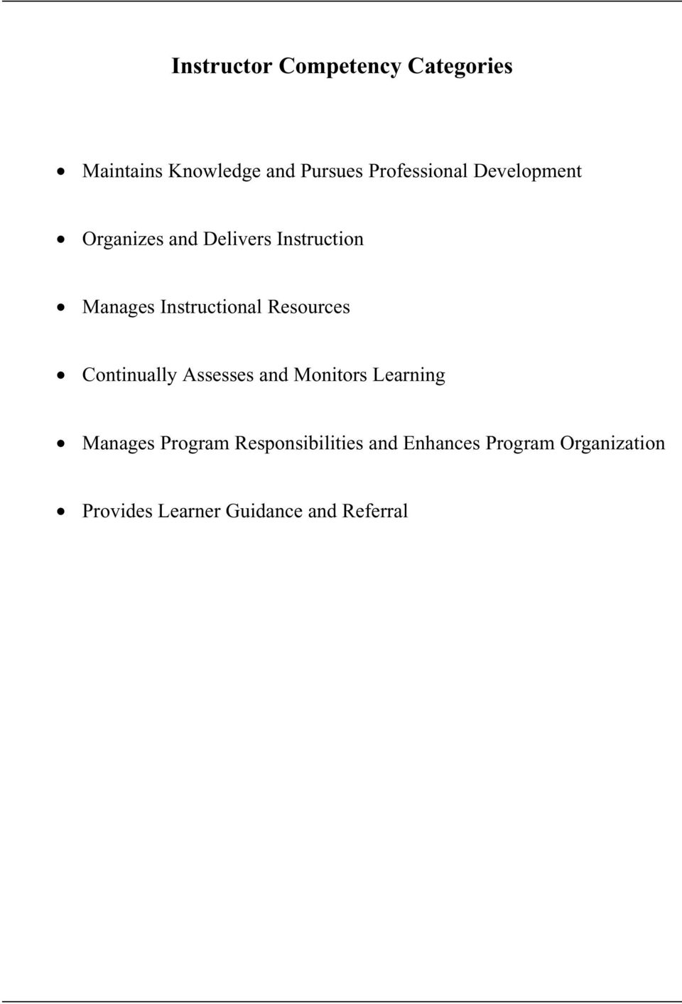 Instructional Resources Continually Assesses and Monitors Learning Manages
