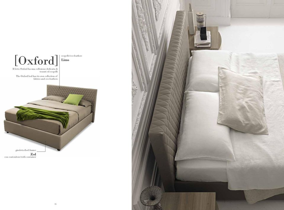 The Oxford bed has its own collection of fabrics