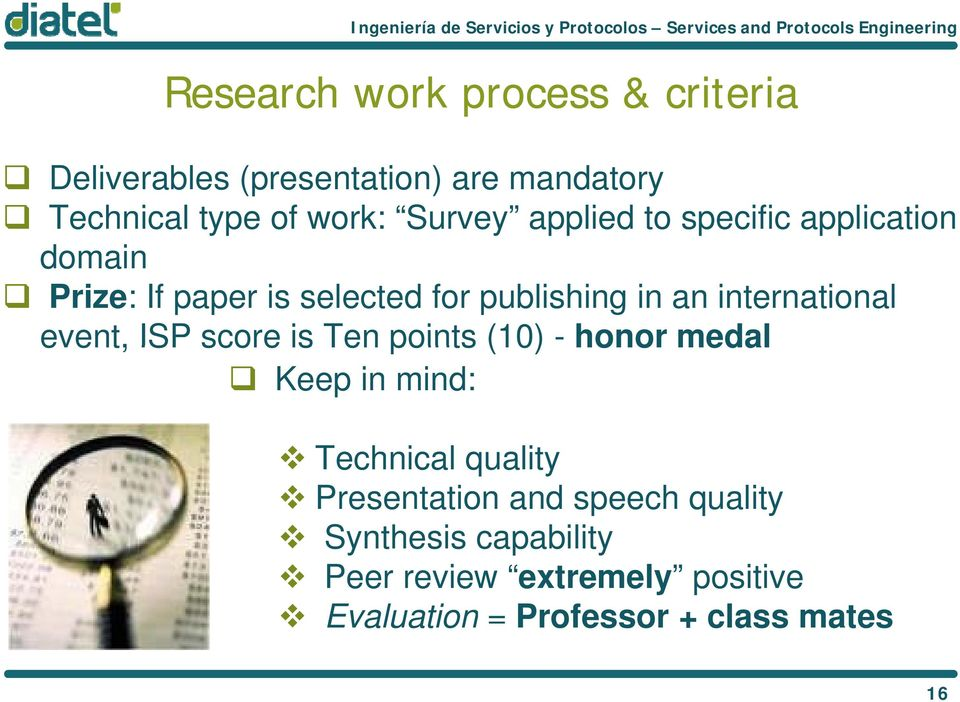 international event, ISP score is Ten points (10) - honor medal Keep in mind: Technical quality