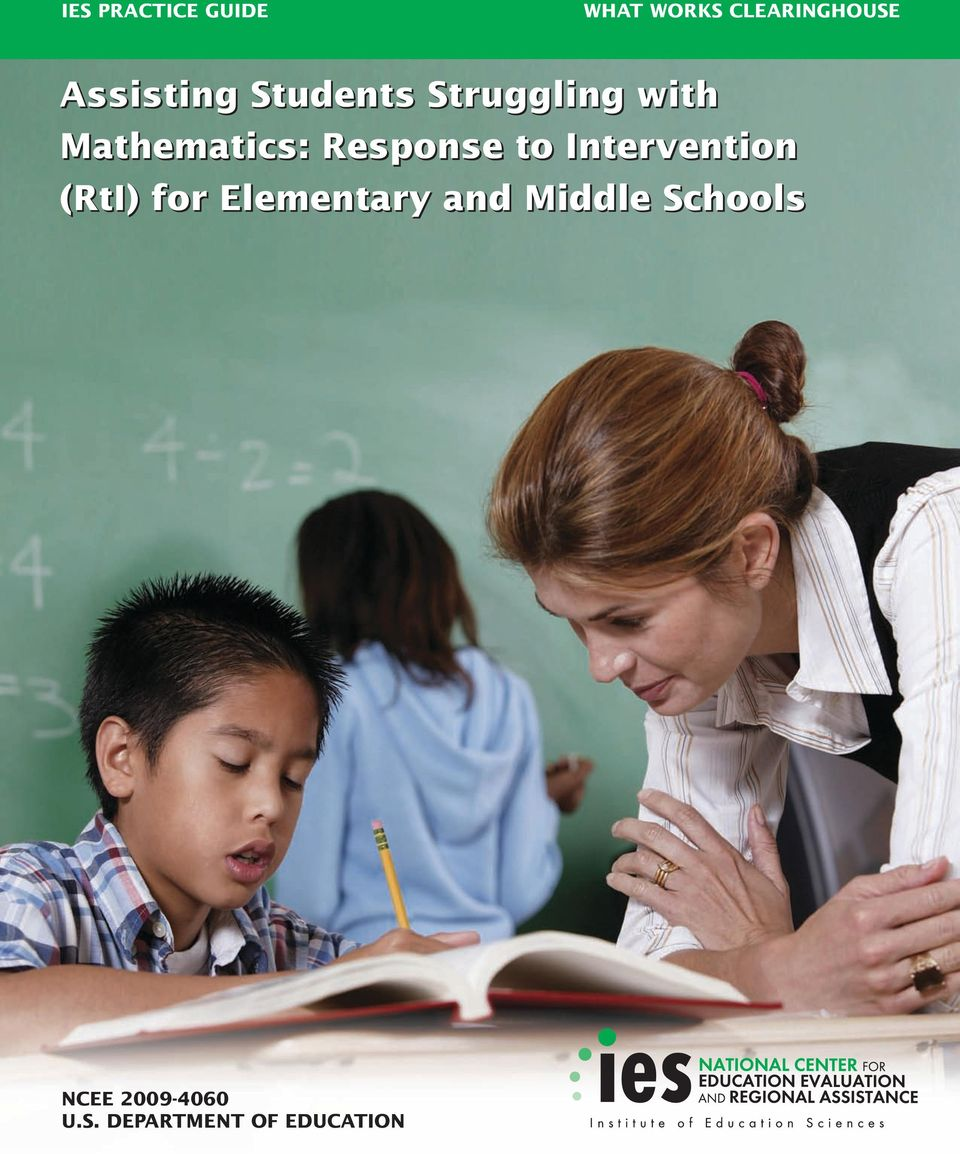 Response to Intervention (RtI) for Elementary and