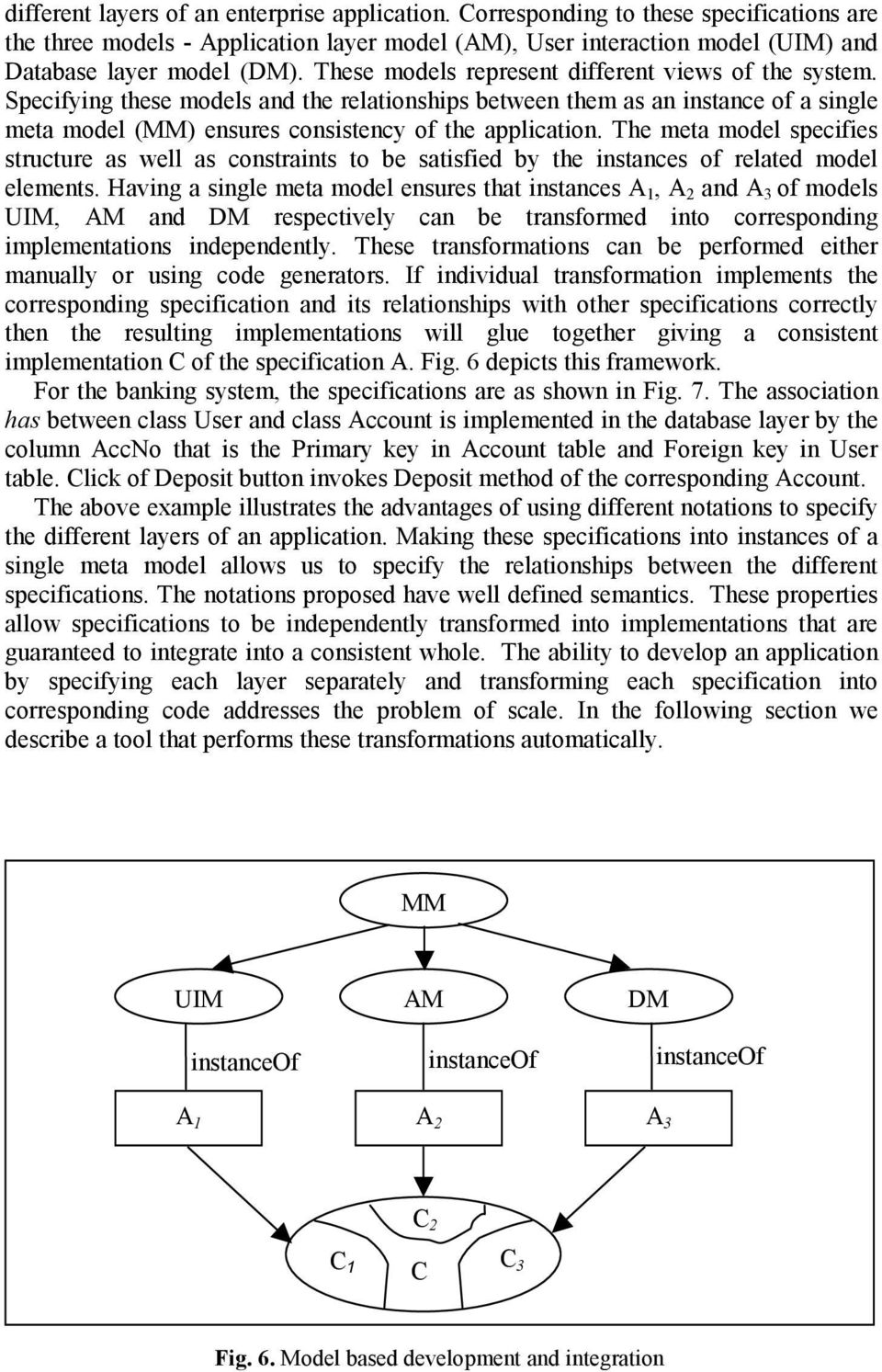 The meta model specifies structure as well as constraints to be satisfied by the instances of related model elements.