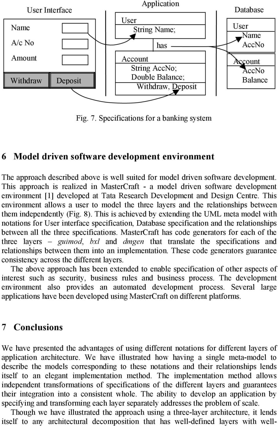 This approach is realized in MasterCraft - a model driven software development environment [1] developed at Tata Research Development and Design Centre.