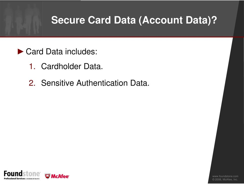 Card Data includes: 1.
