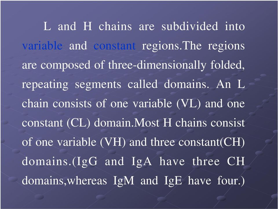 An L chain consists of one variable (VL) and one constant (CL) domain.
