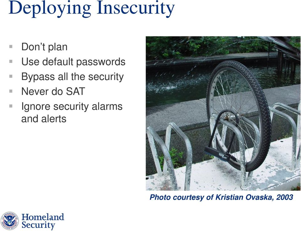 security Never do SAT Ignore security