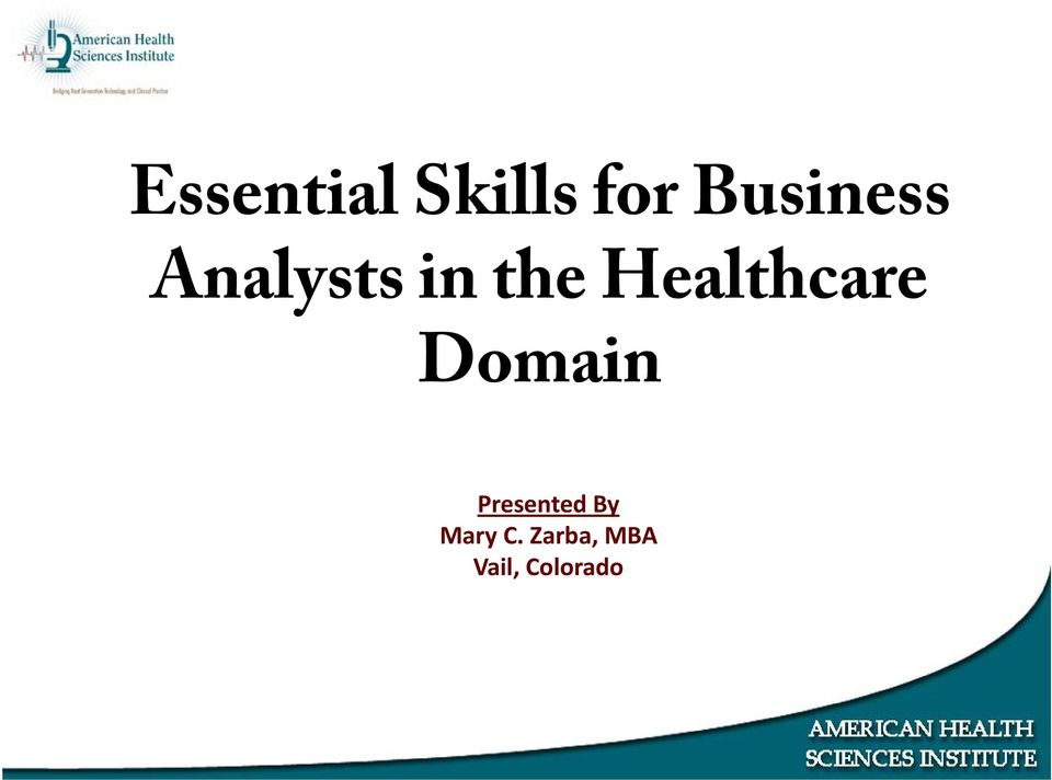Healthcare Domain Presented