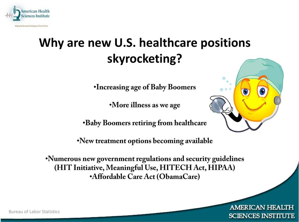 healthcare New treatment options becoming available Numerous new government regulations