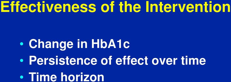 HbA1c Persistence of