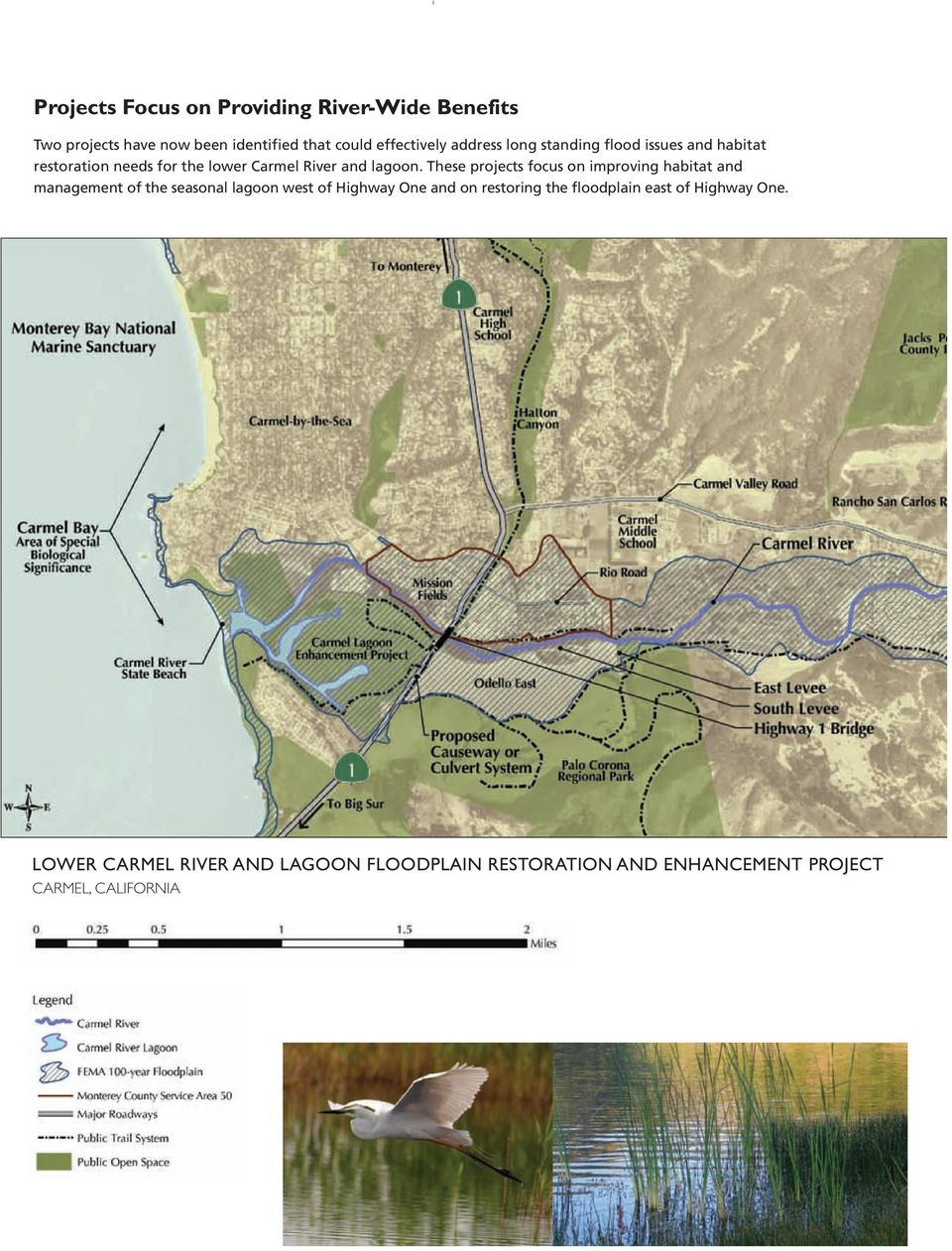 These projects focus on improving habitat and management of the seasonal lagoon west of Highway One and on