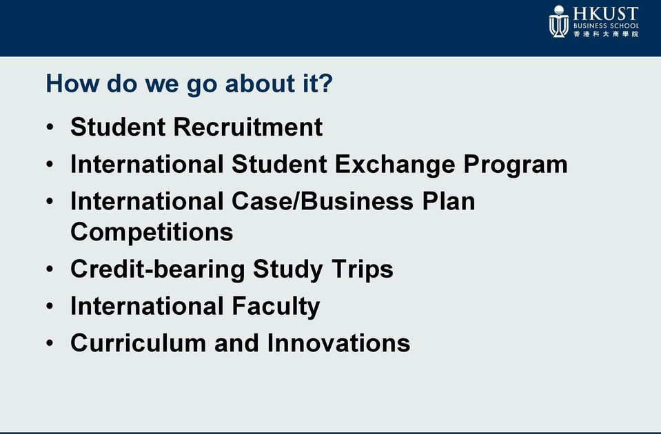 Program International Case/Business Plan