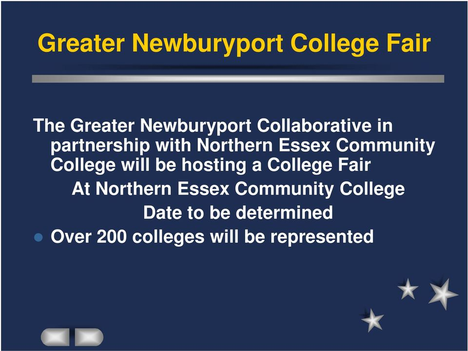 College will be hosting a College Fair At Northern Essex