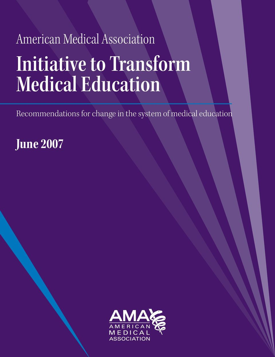 Transform Medical Educaion Recommendaions for change in he sysem of medical educaion