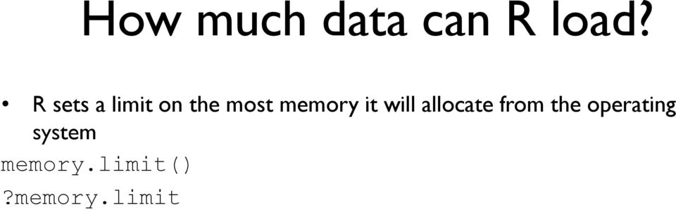 memory it will allocate from the