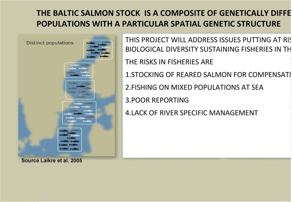 THE RISKS IN FISHERIES ARE 1.STOCKING OF REARED SALMON FOR COMPENSATI 2.
