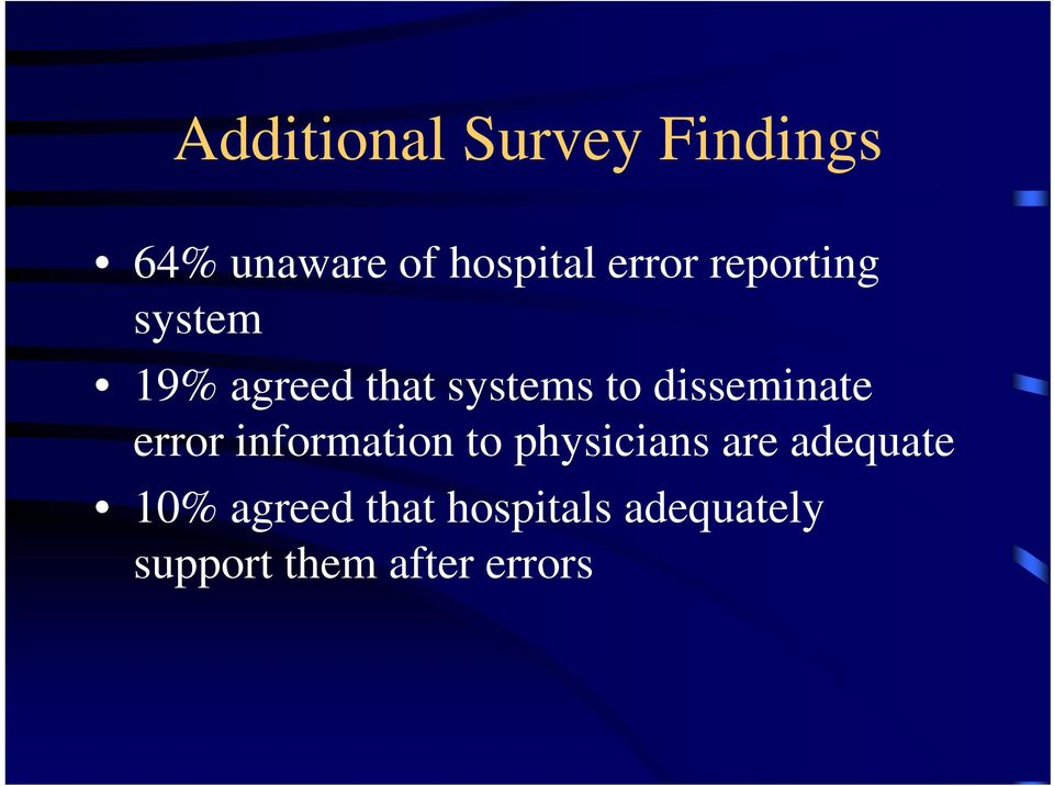 disseminate error information to physicians are