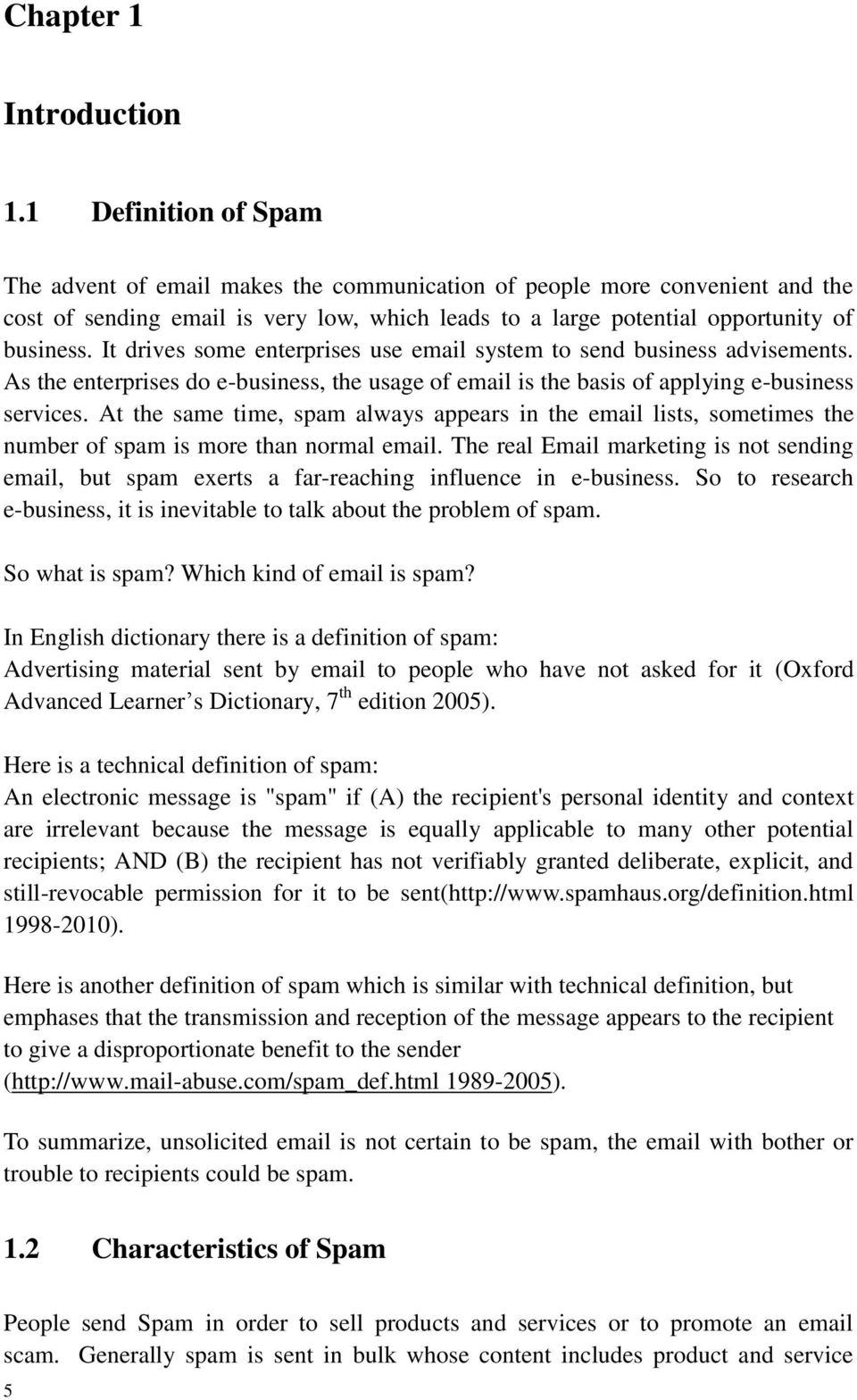 solutions to spam. simple analysis of solutions to spam. thesis