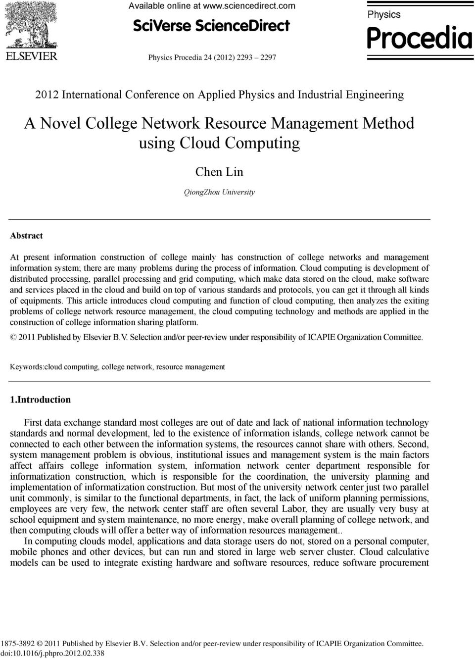 Abstract At present information construction of college mainly has construction of college networks and management information system; there are many problems during the process of information.