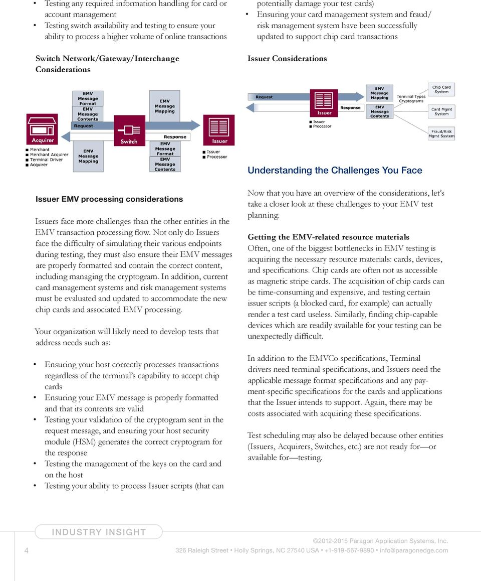 card transactions Issuer Considerations Understanding the Challenges You Face Issuer EMV processing considerations Issuers face more challenges than the other entities in the EMV transaction
