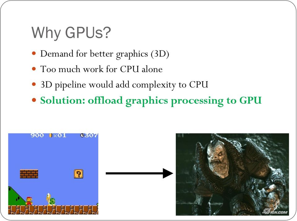 much work for CPU alone 3D pipeline
