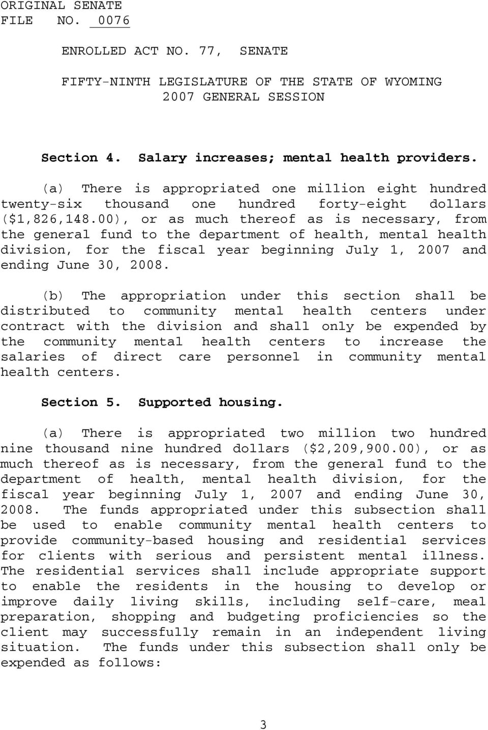 (b) The appropriation under this section shall be distributed to community mental health centers under contract with the division and shall only be expended by the community mental health centers to