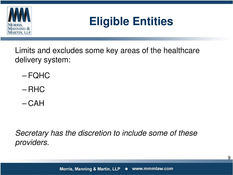 system: FQHC RHC CAH Secretary has the