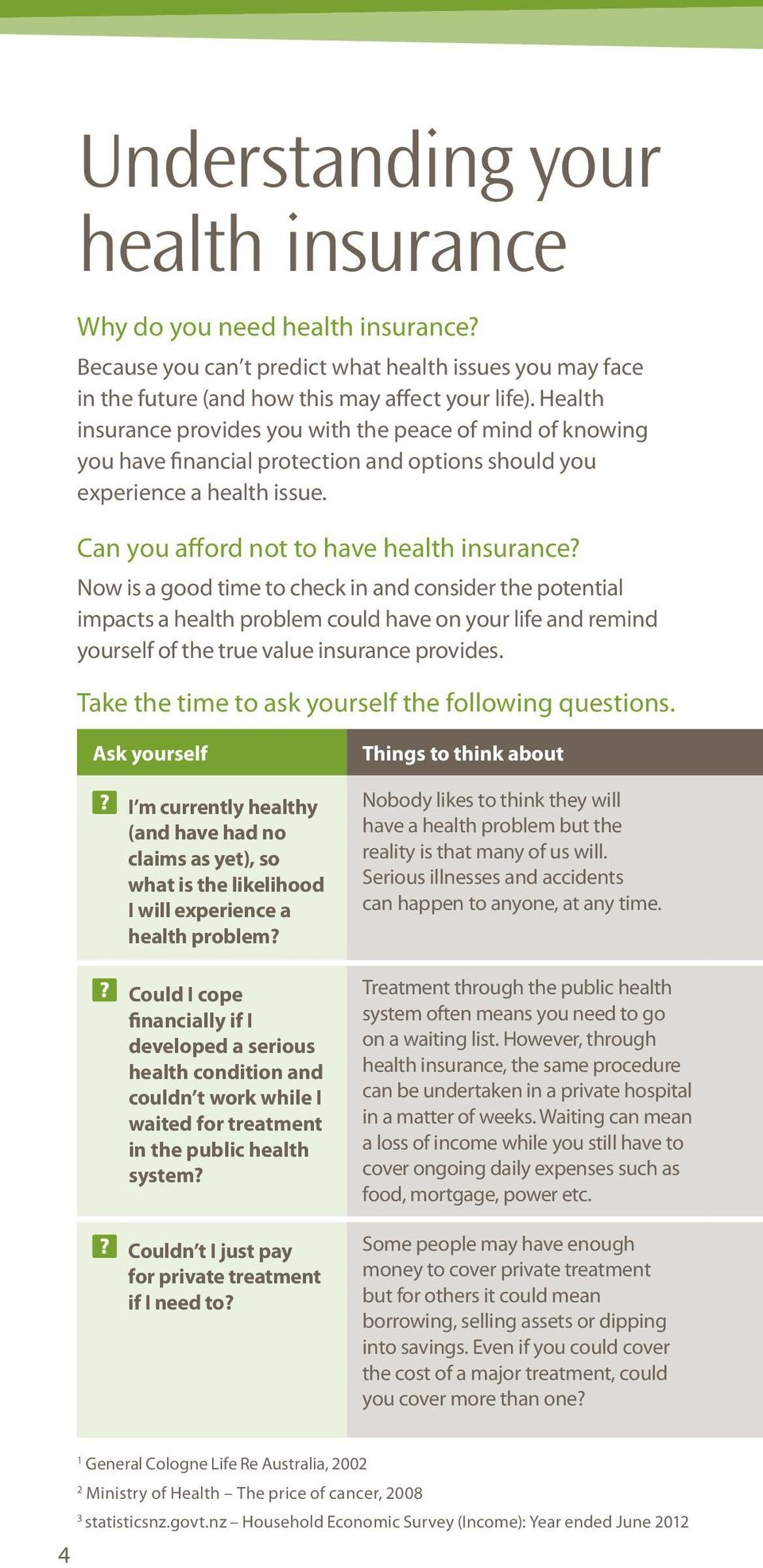 Now is a good time to check in and consider the potential impacts a health problem could have on your life and remind yourself of the true value insurance provides.